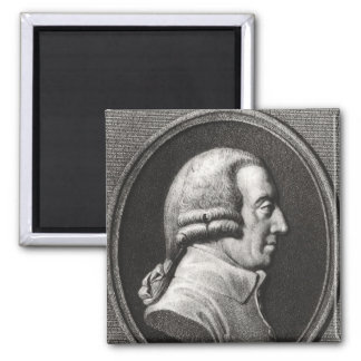 Portrait from a medallion of Adam Smith Square Magnet