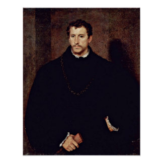 Portrait of a young man by Tiziano Vecelli Poster