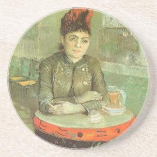 Portrait of Agostina Segatori by Vincent van Gogh Sandstone Coaster