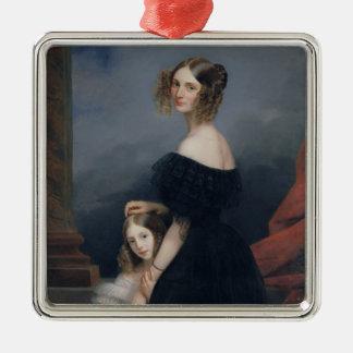 Portrait of Anne-Louise Alix de Montmorency Silver-Colored Square Decoration