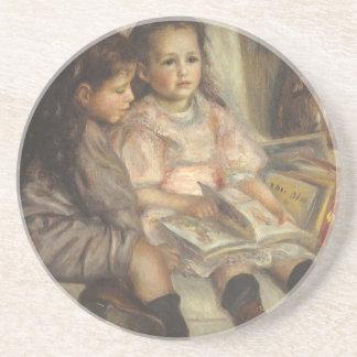 Portrait of Caillebotte Children by Pierre Renoir Coasters