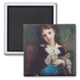 Portrait of Catherine du Bouchage, 1879 Square Magnet