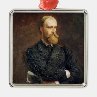 Portrait of Charles Stewart Parnell  1892 Silver-Colored Square Decoration