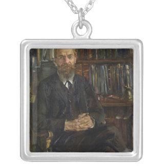 Portrait of Dr Edward Meyer  1910-11 Square Pendant Necklace