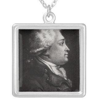 Portrait of Felix Vicq d'Azyr Square Pendant Necklace