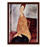Portrait Of Jeanne Hébuterne In The Yellow Sweater Postcard