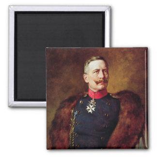 Portrait of Kaiser Wilhelm II Square Magnet