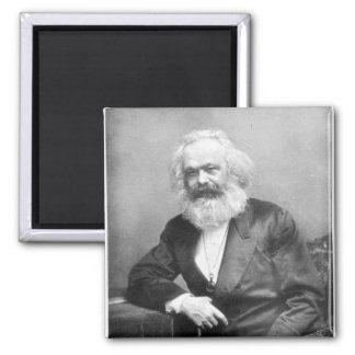 Portrait of Karl Marx Square Magnet