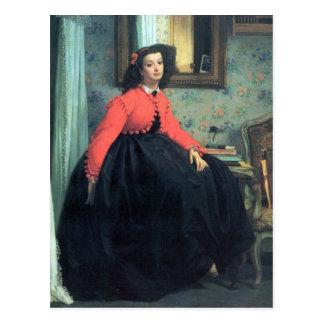 Portrait of Mme. L.L. by James Tissot Postcard
