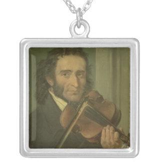 Portrait of Niccolo Paganini Square Pendant Necklace