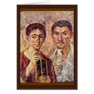 Portrait Of Paquius Proculus And His Wife By Meist Greeting Card