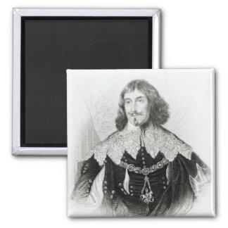Portrait of Philip Herbert Square Magnet