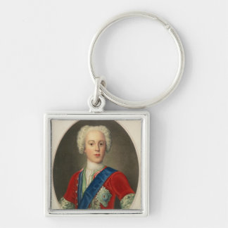 Portrait of Prince Charles Edward Silver-Colored Square Key Ring
