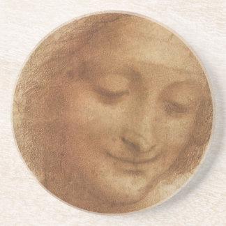 Portrait of Saint Anne by Leonardo da Vinci Coasters