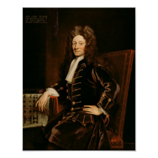 Portrait of Sir Christopher Wren  1711 Poster