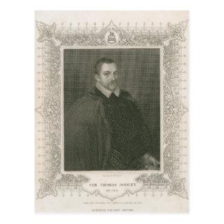 Portrait of Sir Thomas Bodley Postcard