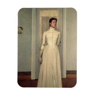 Portrait of the artist's sister, Marguerite Khnopf Rectangular Photo Magnet