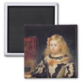 Portrait of the Infanta Maria Marguerita  1654 Square Magnet