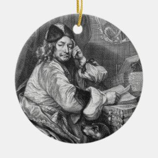 Portrait of Thomas Killigrew (1612-83) Restoration Round Ceramic Decoration