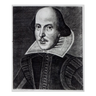 Portrait of William Shakespeare Poster