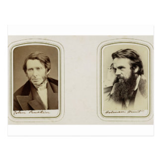 Portraits of John Ruskin (1819-1900) and William H Postcard