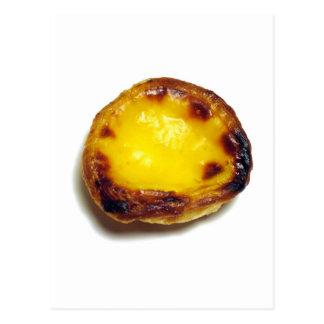 Portuguese custard tart postcard