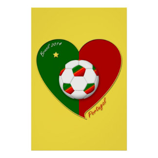 "Portuguese SOCCER Team. Soccer of ""PORTUGAL"" 2014 Poster"