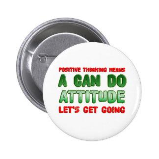 Positive Thinking 6 Cm Round Badge