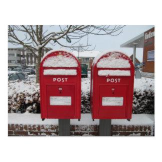 Post Danmark -- Danish Mailboxes in the Snow Postcard
