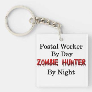 Postal Worker/Zombie Hunter Single-Sided Square Acrylic Key Ring