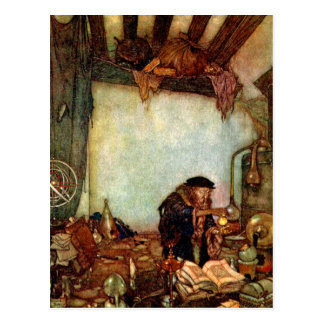 Postcard: Alchemist and His Gold by Edmund Dulac Postcard