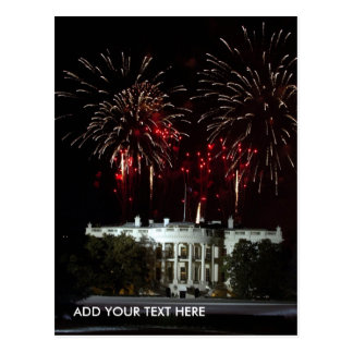 postcard, FIREWORKS AT THE WHITEHOUSE - Customized Postcard