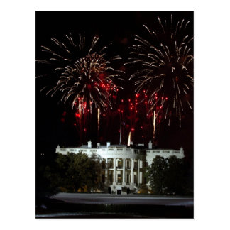 postcard, FIREWORKS AT THE WHITEHOUSE Postcard