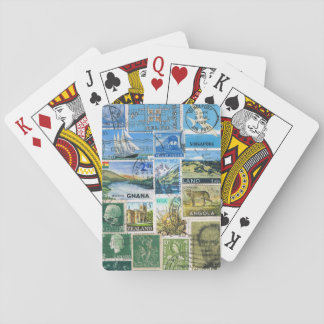 Postcard Landscape Playing Cards, Postage Stamps Poker Cards