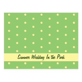 Postcard: Lemon Lime Dots Postcard