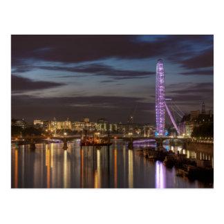 Postcard : London Eye and Thames River at night