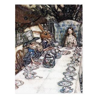 Postcard: Mad Hatter Tea Party - Rackham Postcard
