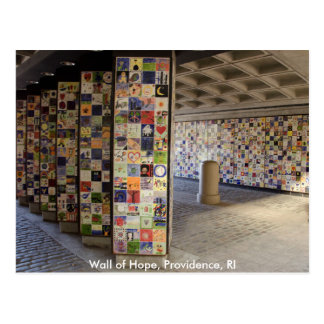Postcard of the Wall of Hope in Providence, RI