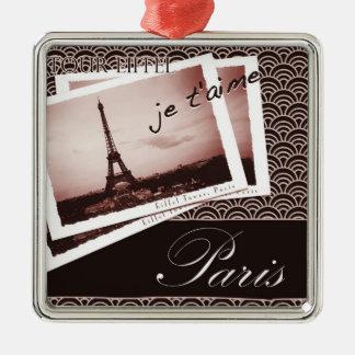 Postcards from Paris Square Ornament