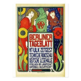 Poster for the newspaper Berliner Tageblatt, 1899 Postcard