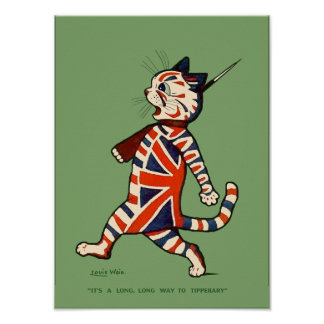 Poster/Print: Patriotic Cat Poster