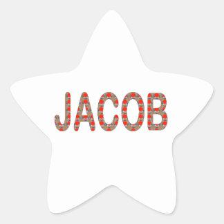 Pour JACOB Name  artist NavinJOSHI artistique GIFT Star Sticker