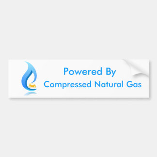 Powered By Compressed Natural Gas Bumper Sticker