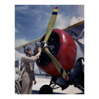 Pre-Flight Check, 1940s Poster