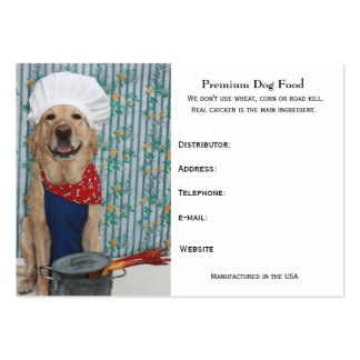 Premium Dog Food Pack Of Chubby Business Cards