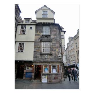 Presbyterian Leader John Knox's House in Edinburgh Postcard