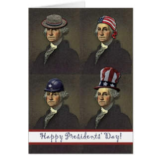 Presidents' Day, George Washington Style Greeting Card