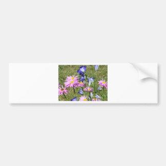 Pretty and colorful wildflowers bumper sticker