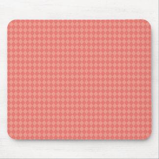 Pretty and Modern Pink Diamond Pattern Mouse Pad