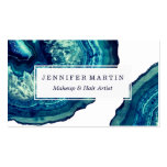 Pretty Blue and Teal Agate Geode Stone on Blue Pack Of Standard Business Cards